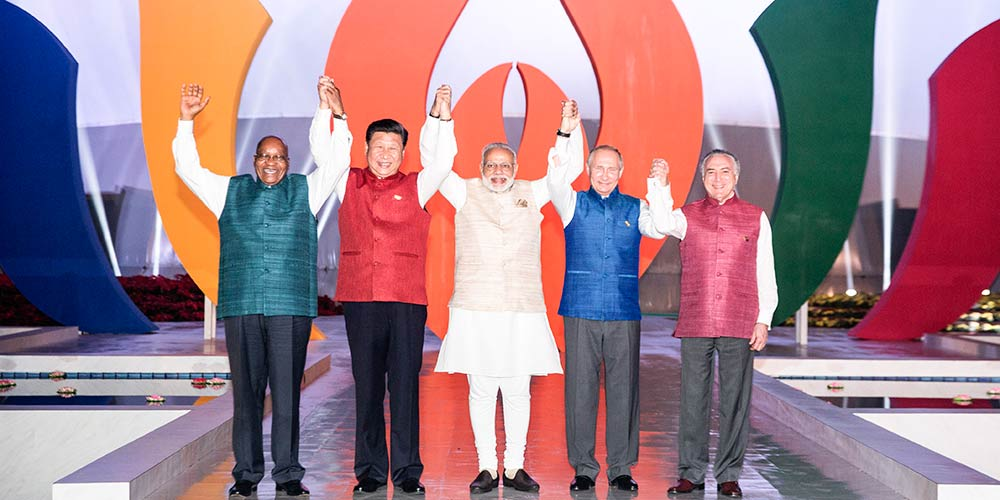 Líderes do BRICS posam para foto antes de jantar informal