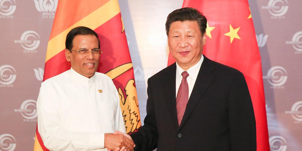 China e Sri Lanka prometem aprofundar cooperação em Rota da Seda