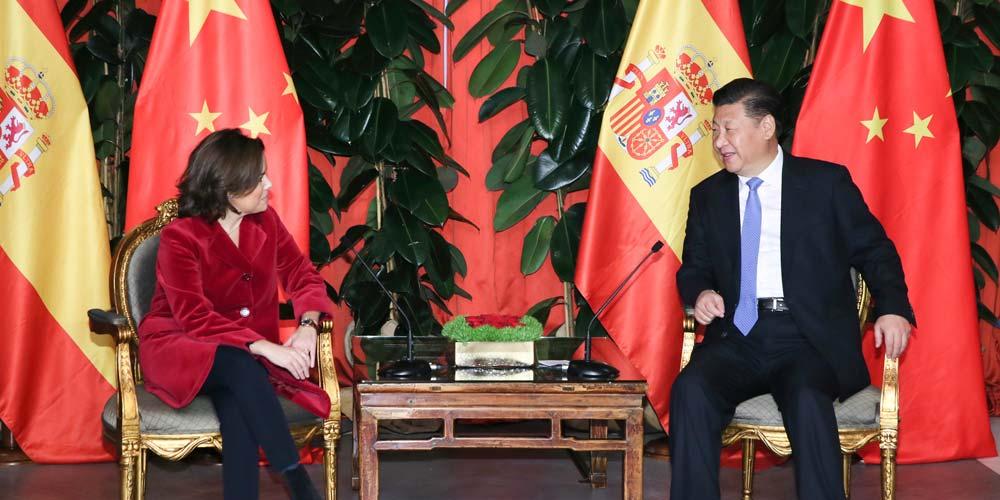 Presidente chinês espera cooperação mais estreita com a Espanha