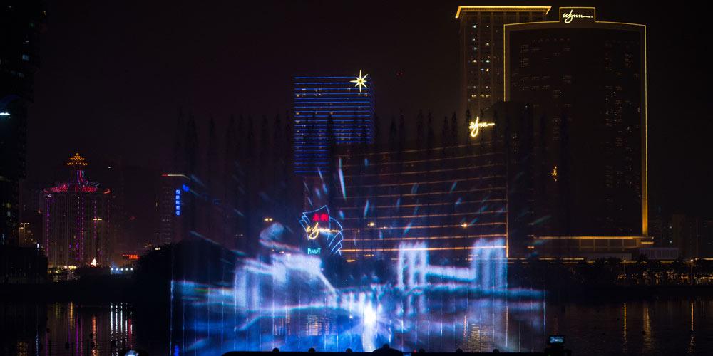 """""""Festival de Luz de Macau"""" é realizado em Macau, no sul da China"""