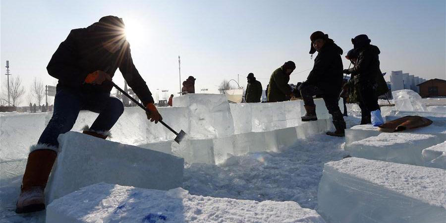 Parque recebe preparativos para o Festival de Gelo e Neve
