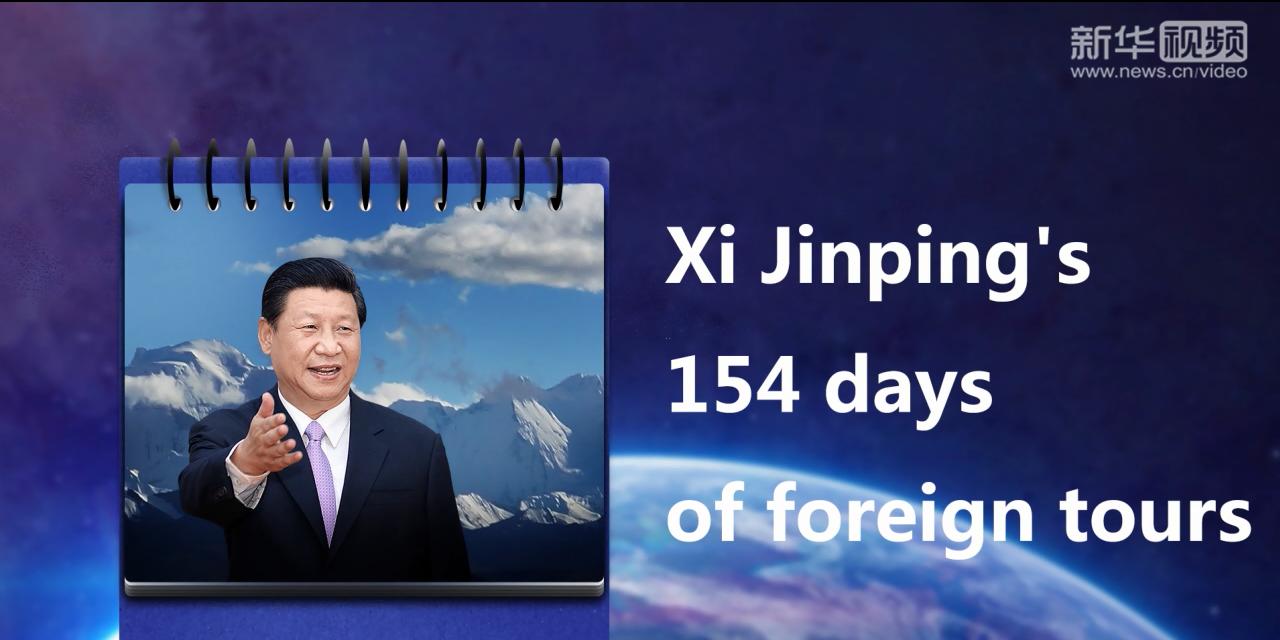 154 dias de visitas ao exterior do Presidente Xi Jinping
