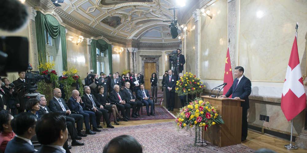 Presidente chinês consolidará amizade e cooperação durante viagem à Suíça