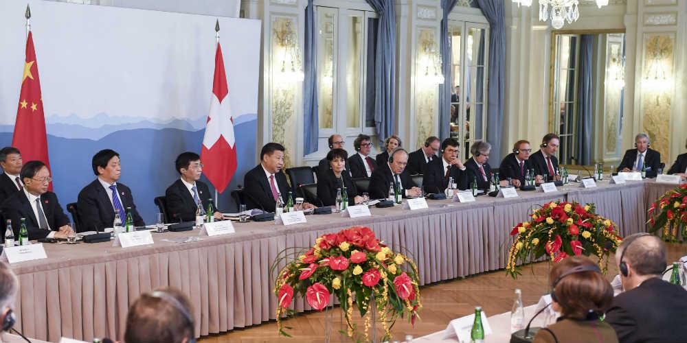 Presidente chinês pede a empresários suíços reforçar laços comerciais