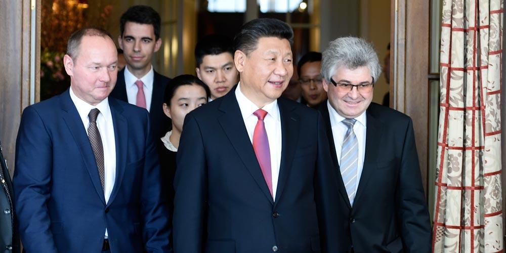 Presidente chinês assinala papel de intercâmbios parlamentários em relações China-Suíça