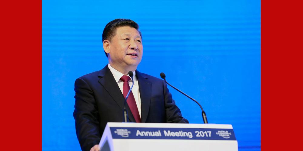 Presidente chinês pronuncia discurso no fórum de Davos pela primeira vez para governança  global