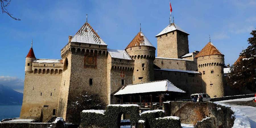 Castelo de Chillon em Montreux, Suiça