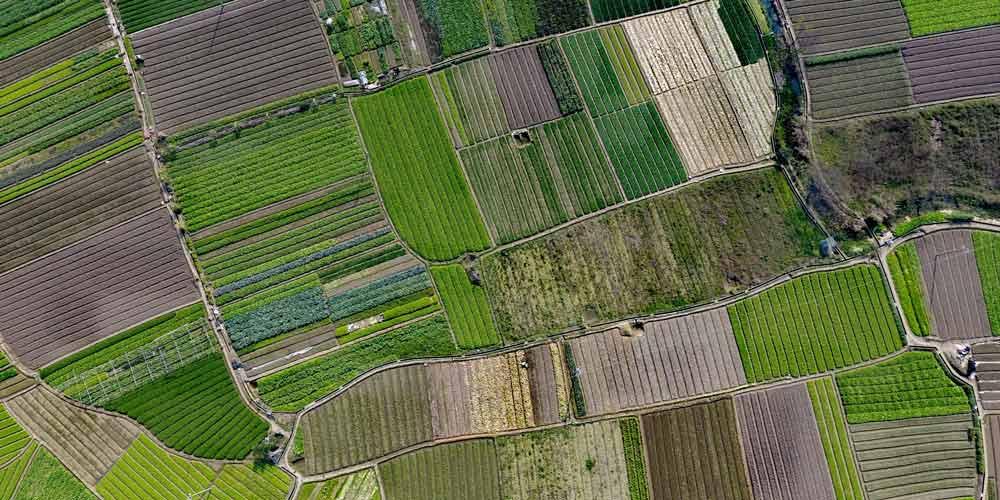 Fotografia aérea da paisagem rural em Liuzhou, no sul da China