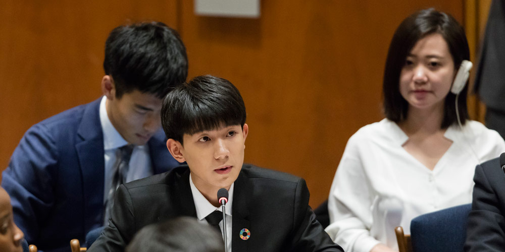 Astro teen na China fala sobre educação de qualidade em fórum da ONU