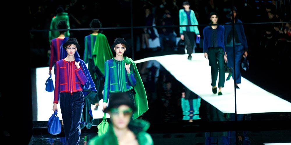 Giorgio Armani apresenta sua coleção durante a Semana de Moda de Milão Outono/Inverno 2017/2018