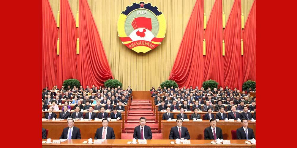 Líderes chineses participam de reunião inaugural da 5ª sessão do 12º Comitê Nacional da CCPPC
