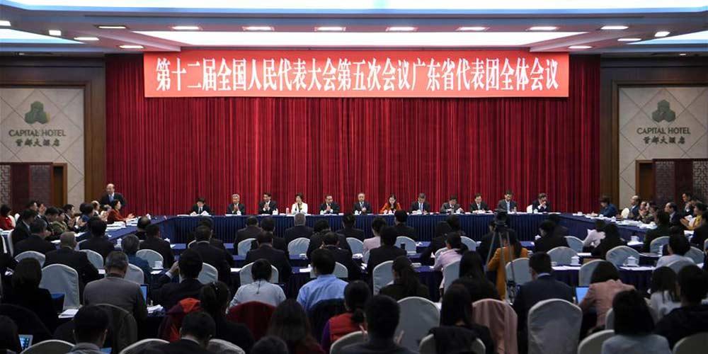 Reunião plenária dos deputados de Guangdong na 12ª APN é aberta à imprensa