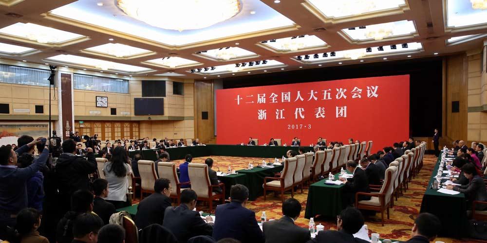 Reunião plenária dos deputados de Zhejiang na 12ª APN é aberta à imprensa