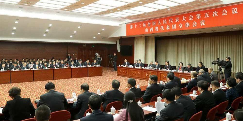 Reunião plenária dos deputados de Shanxi na 12ª APN é aberta à imprensa