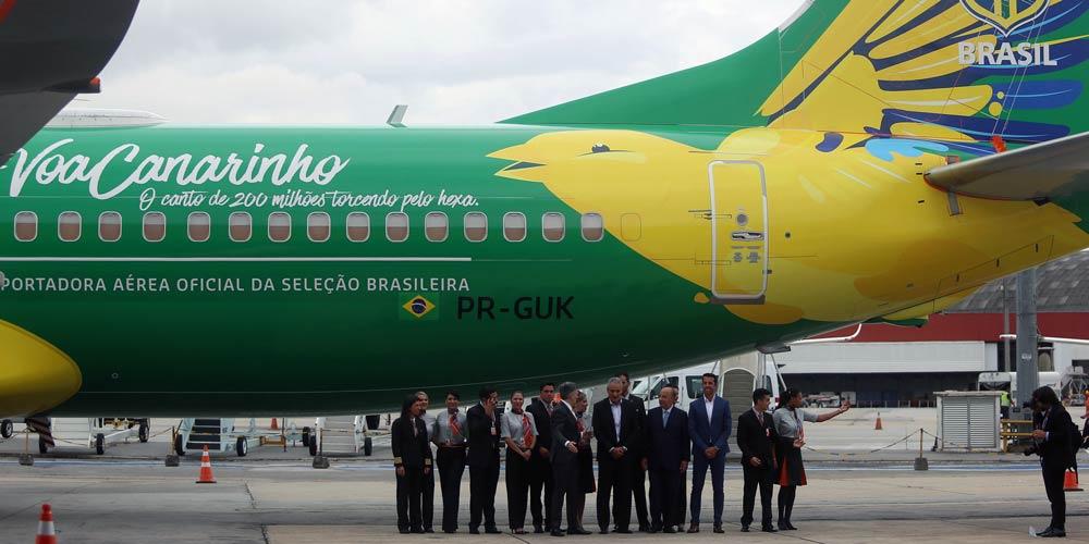 Seleção Brasileira ganha novo avião de patrocinadora
