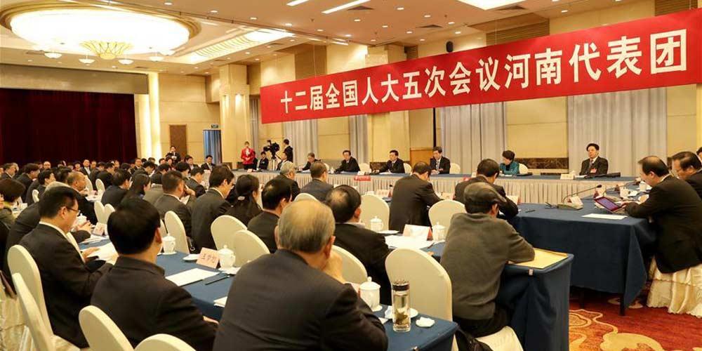 Reunião plenária dos deputados de Henan na 12ª APN é aberta à imprensa