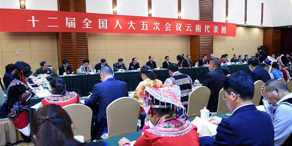 Reunião plenária dos deputados de Yunnan na 12ª APN é aberta à imprensa