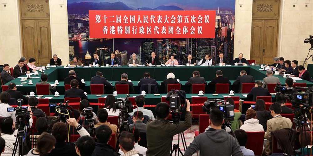 Reunião plenária dos deputados de Hong Kong na 12ª APN é aberta à imprensa