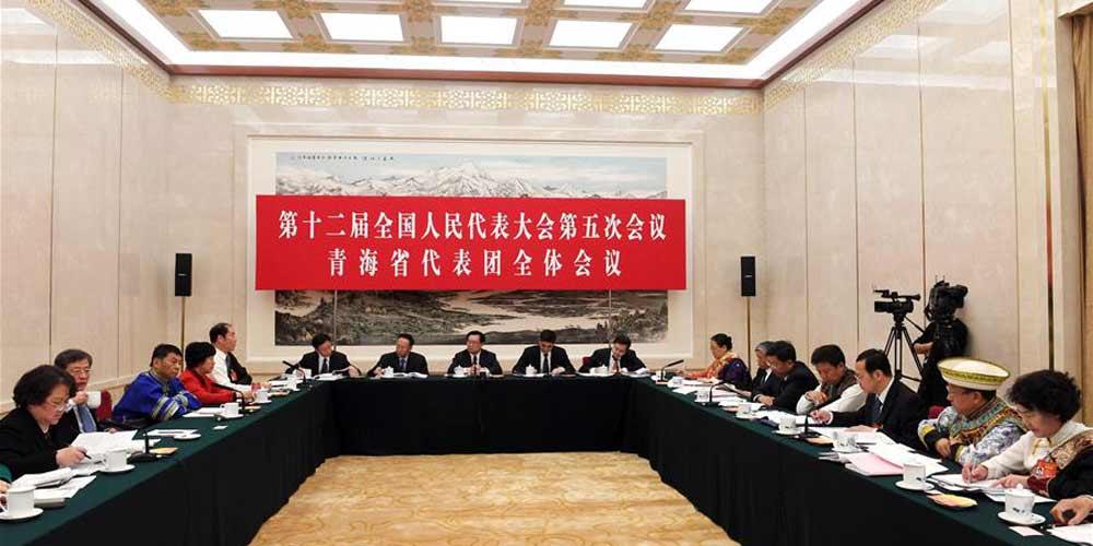 Reunião plenária dos deputados de Qinghai na 12ª APN é aberta à imprensa