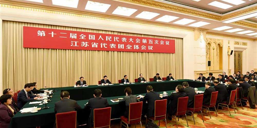 Reunião plenária dos deputados de Jiangsu na 12ª APN é aberta à imprensa