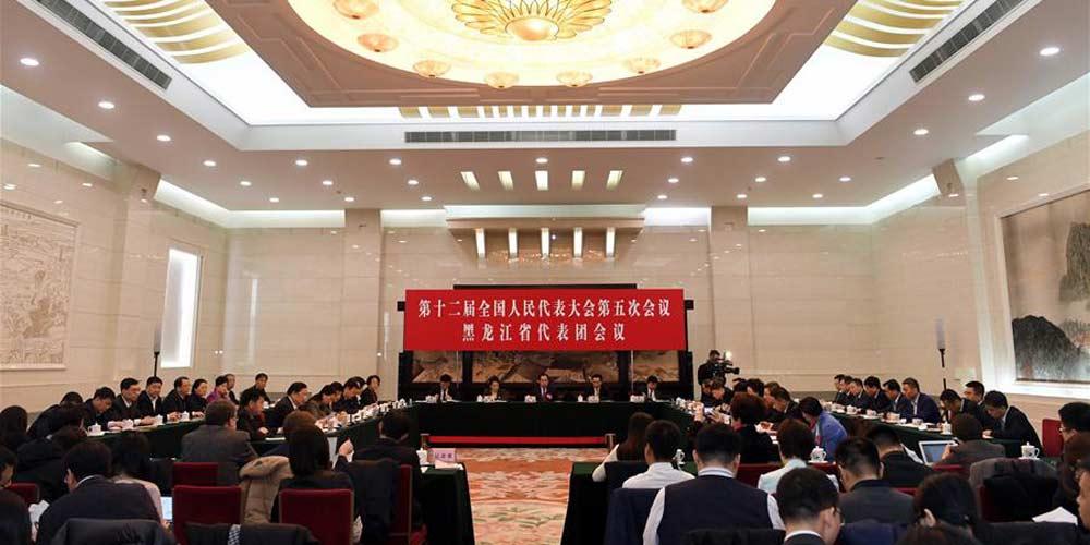 Reunião plenária dos deputados de Heilongjiang na 12ª APN é aberta à imprensa