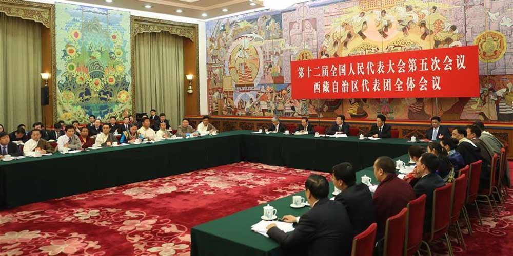 Reunião plenária dos deputados da Região Autônoma do Tibet para a 12ª APN é aberta à imprensa