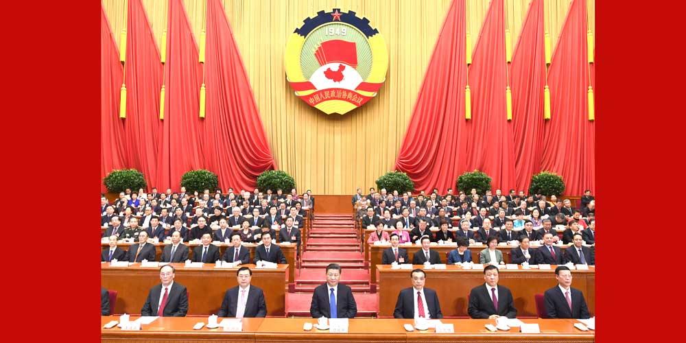 Líderes chineses participam da reunião de encerramento da sessão anual da CCPPC
