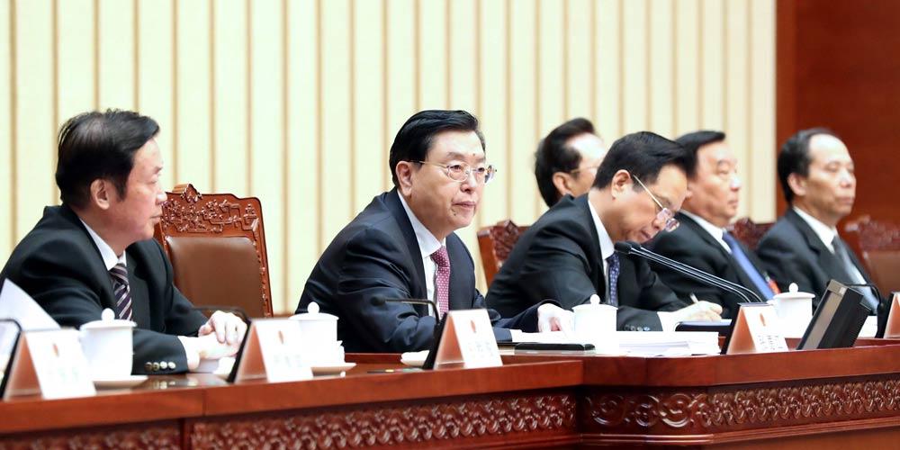 Zhang Dejiang preside a 3ª reunião da presidência da 5ª sessão da APN em Beijing