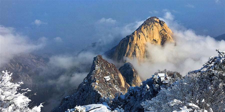 Cenário da Montanha Huashan em Shaanxi