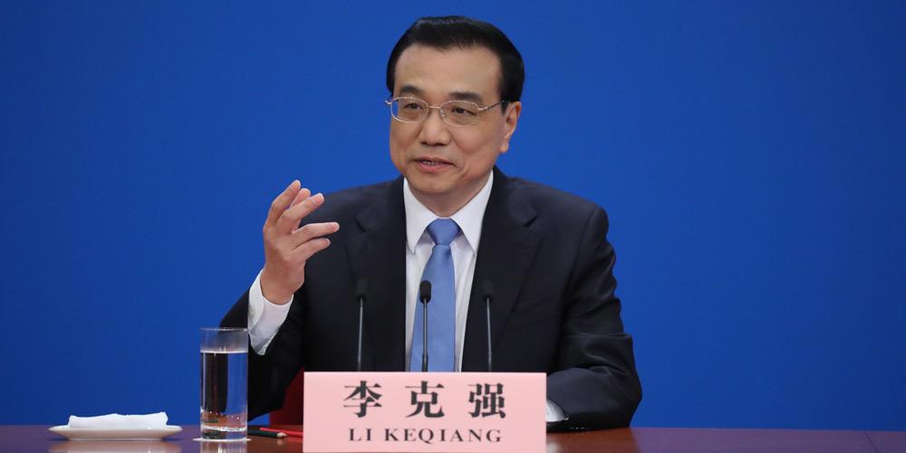 Premiê chinês Li Keqiang concede coletiva de imprensa