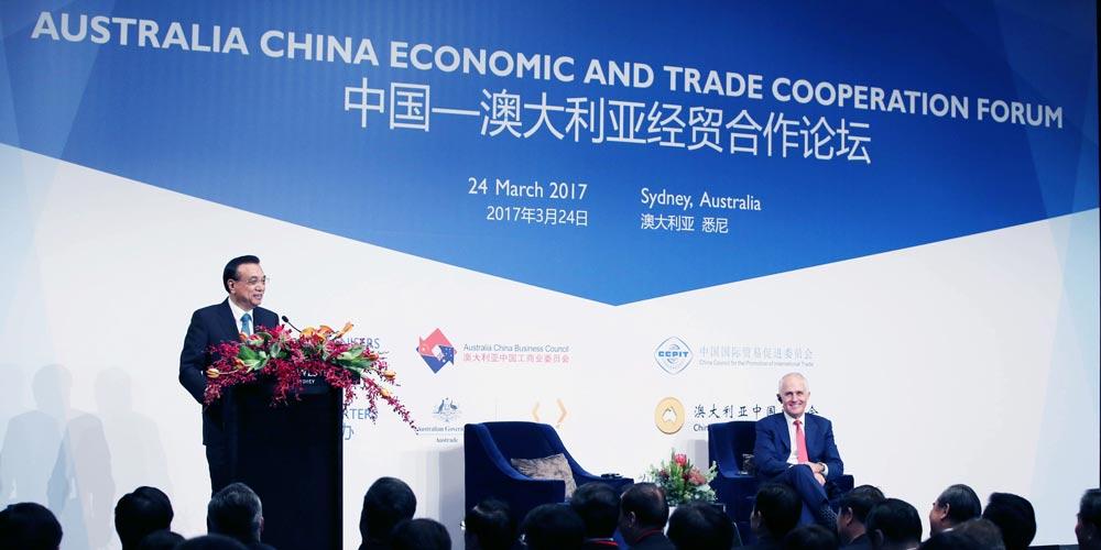 China e Austrália concordam em promover liberalização comercial
