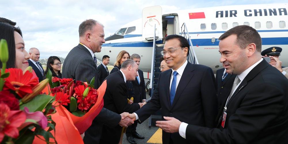Primeiro-ministro chinês chega à Nova Zelândia para visita oficial