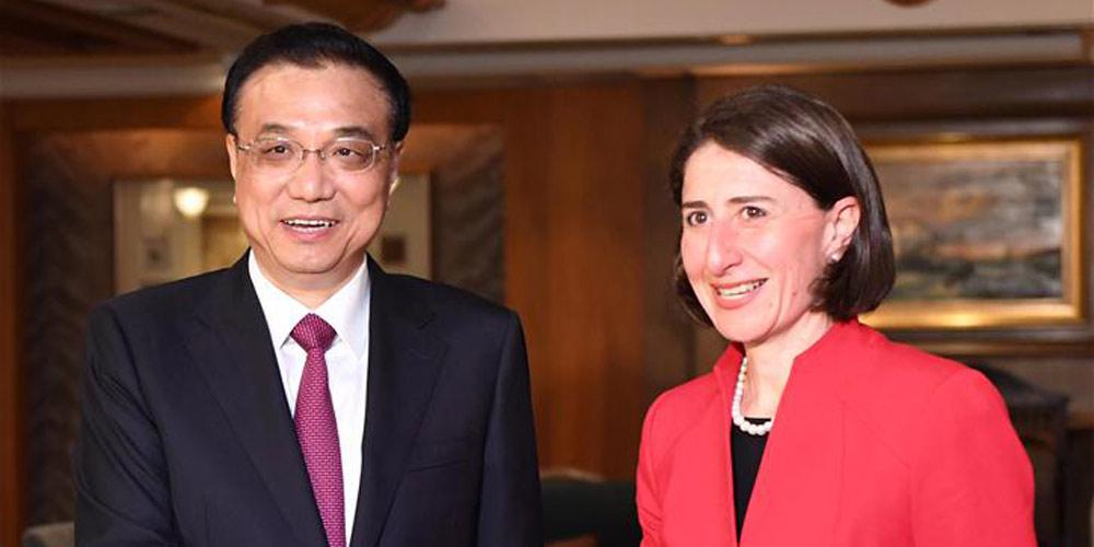 Premiê chinês pede por maior cooperação com estado australiano da Nova Gales do Sul