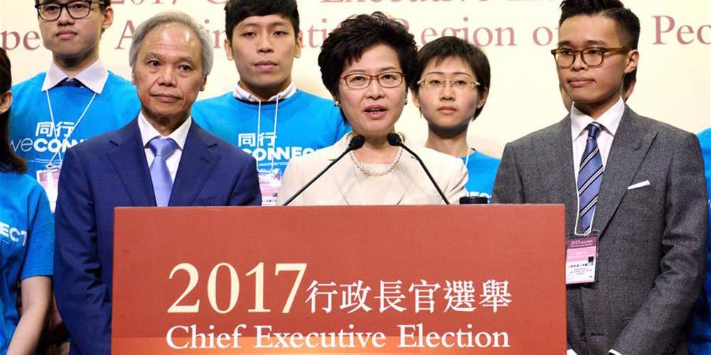 """Lam Cheng Yuet-ngor vence eleição para chefe do Executivo de Hong Kong prometendo  defender """"um país, dois sistemas"""""""