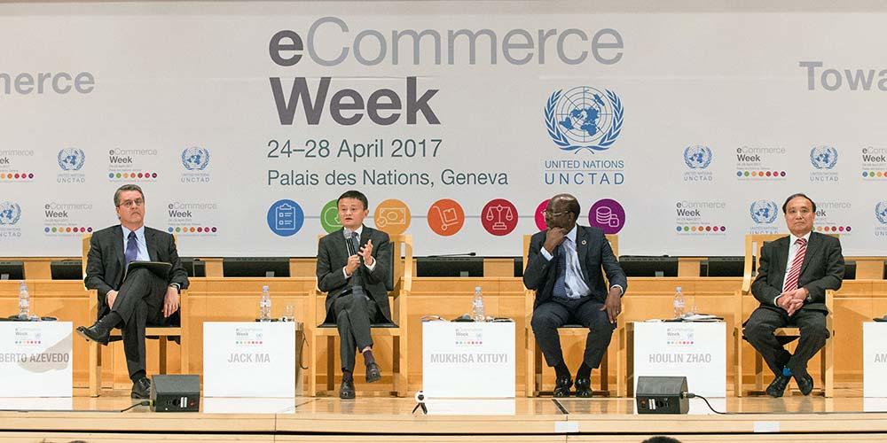 Jack Ma participa da 3ª edição da Semana do Comércio Eletrônico da UNCTAD