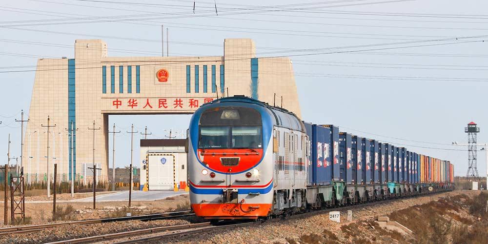 1° trem de carga Londres-Yiwu transportando produtos britânicos entra na China