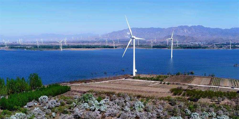 Em imagens: Projeto de geração de energia eólica em Hebei