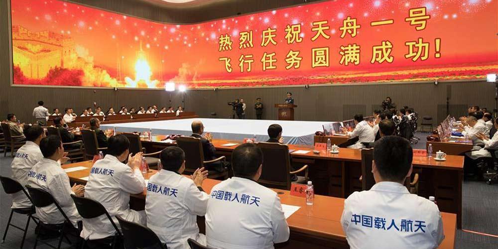 Tianzhou-1 completa com sucesso seu primeiro reabastecimento em órbita