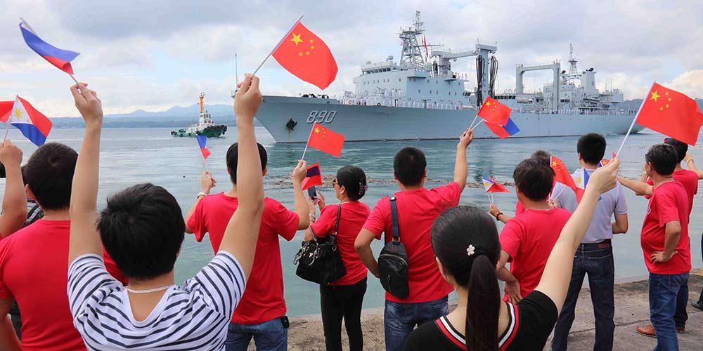 Frota naval chinesa conclui visita às Filipinas