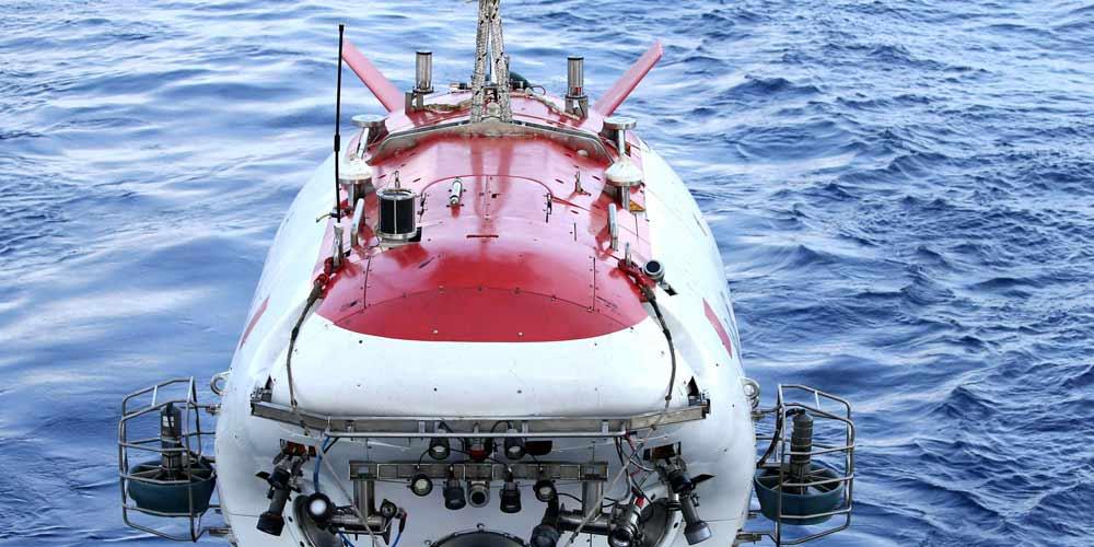Submersível chinês explora correntes de turbidez no Mar do Sul da China