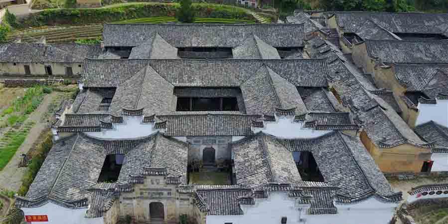 Em imagens: Moradias antigas do povo Hakka em Songyang no leste da China