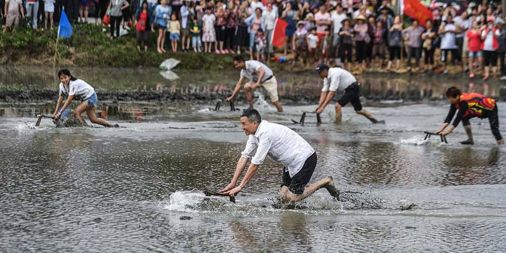 Concurso esportivo recreativo é realizado em Huzhou no leste da China