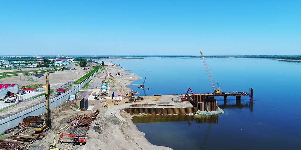 Ponte rodoviária conectando China e Rússia em construção