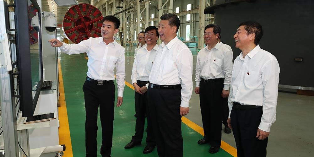 Presidente Xi inspeciona empresas em Shanxi, no norte da China