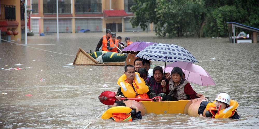Fortes chuvas atingem Fuquan no sudoeste da China