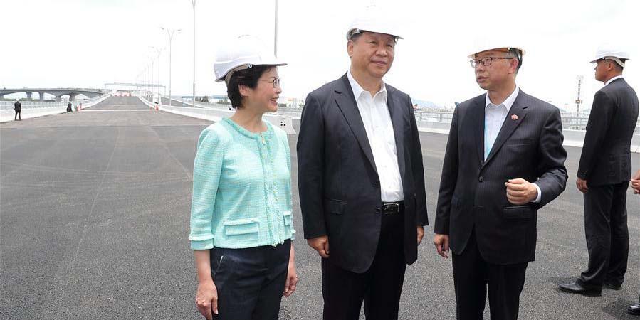 Presidente chinês inspeciona importantes projetos de infraestrutura em Hong Kong