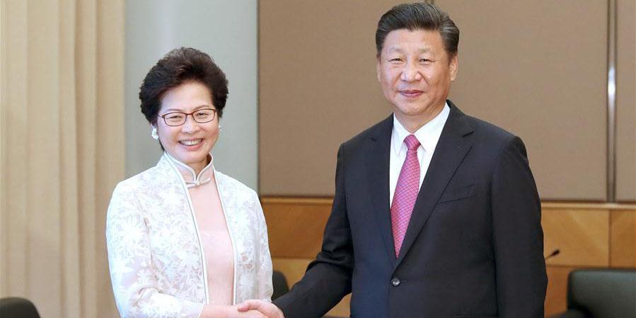 Presidente chinês expressa confiança na nova chefe do Executivo de Hong Kong
