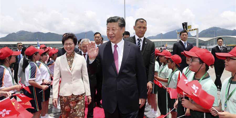 Presidente chinês termina visita de três dias a Hong Kong