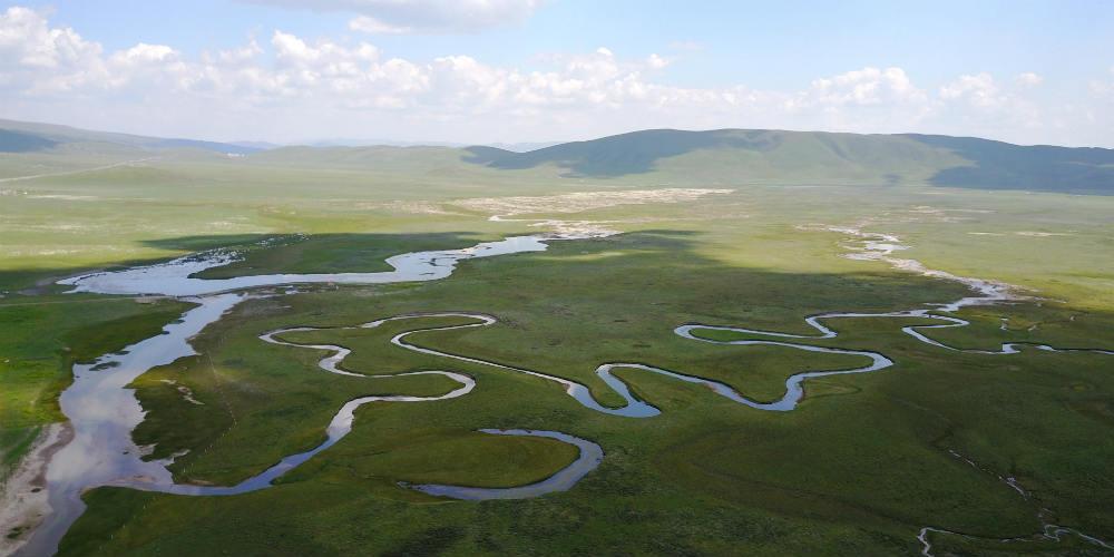 Em imagens: Paisagem do pântano Guomang no noroeste da China