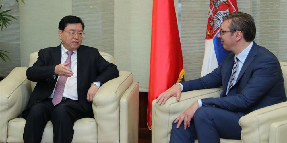 Chefe do Legislativo chinês visita Sérvia para aprofundar a cooperação bilateral